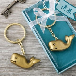 Bronze Coloured Whale Key Ring Favour